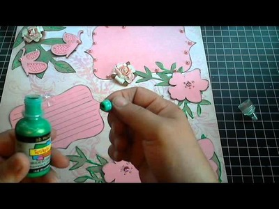 SCRAPBOOK LAYOUT PROJECT SHARE - SIMPLE LAYOUT USING CRICUT