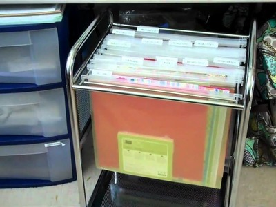 Scrapbooking and card making paper storage