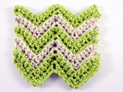 Single Crochet Chevron Stitch Left Handed