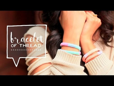Thread Wrap Friendship Bracelets DIY