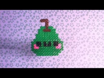 Tutorial pyssla.hama beads: come realizzare un pera kawaii! *^*