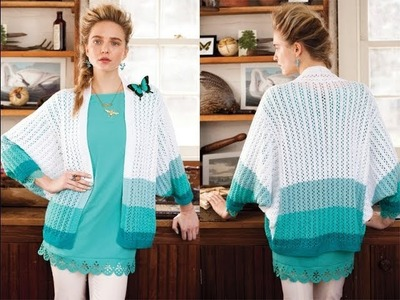 #3 Lace Striped Cardi, Vogue Knitting Spring.Summer 2013