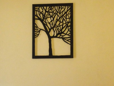 Amazing DIY canvas tree cut-out (wall art home decor idea)
