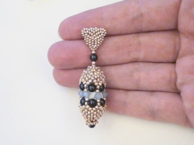 BeadsFriends: Beaded earrings tutorial - Peyote stitch earrings