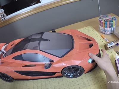 Building the McLaren P1 Paper-Super-Craft . Artist POV