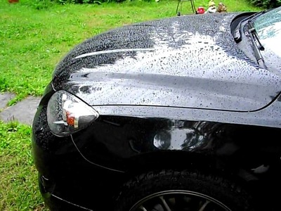 Collinite 915 Marque D'Elegance wax, raining water beading Mazda 3 MPS 2.3T.