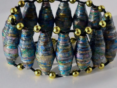 Create a Stylish Bracelet from Paper Beads - DIY Style - Guidecentral