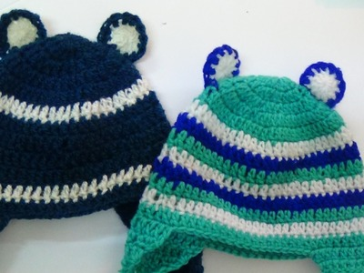 CROCHET BABY EAR HAT-2
