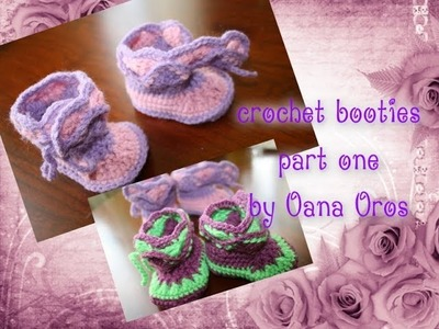 Crochet booties for baby part one