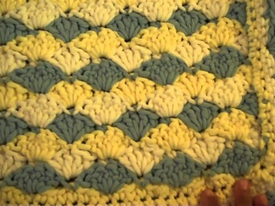 Crochet Shell Stitch Baby Blanket
