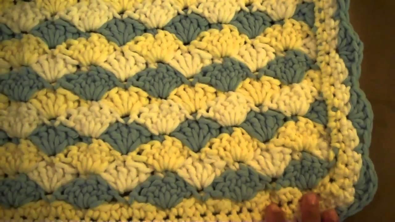 Crochet Shell Stitch Baby Blanket