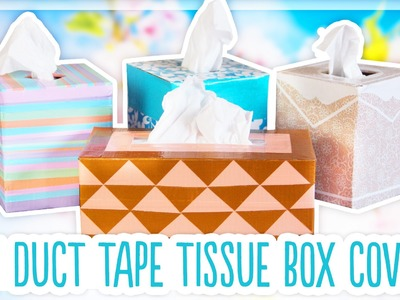 DIY Duck Tape Tissue Box Covers