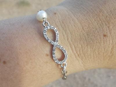 DIY:Easy Infinity Bracelet with Pearl