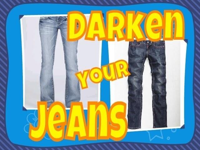 DIY: How to DARKEN YOUR OWN JEANS!!!!!