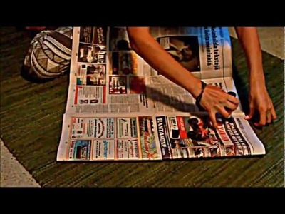 DIY - how to make biowaste bag from newspapers