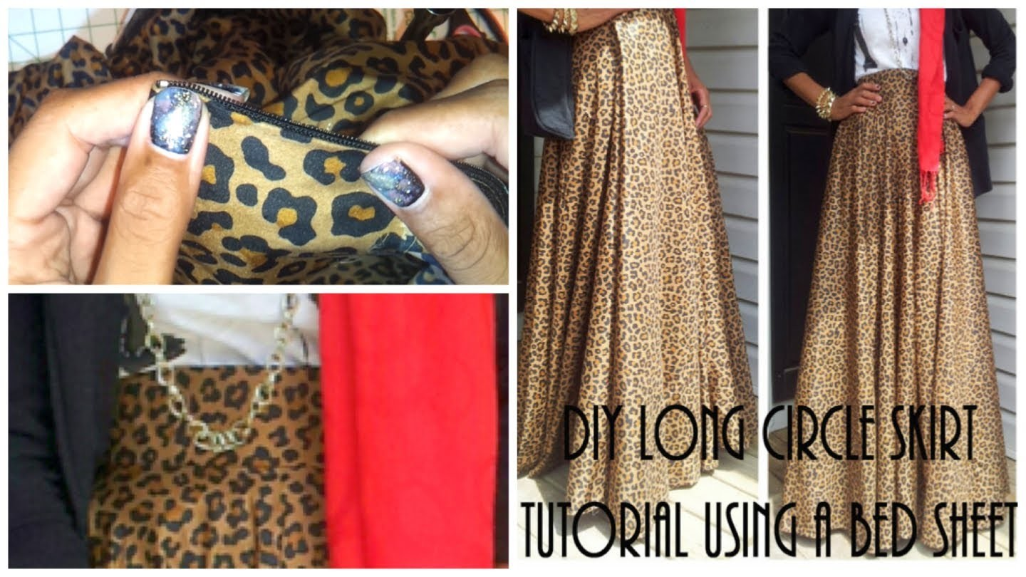 DIY| Long Circle Skirt Tutorial Part 2 | Attaching Zipper & Waistband