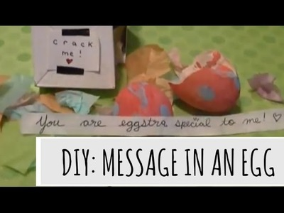DIY: Message in an EGG?!?!?!