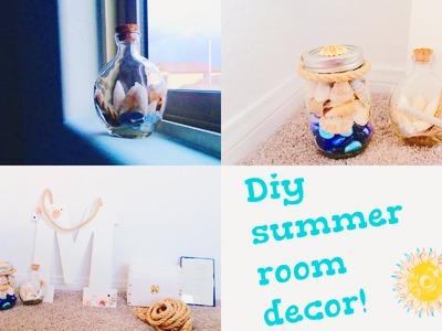 DIY Summer Room Decor! Ocean and Nautical