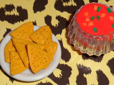 Doll and LPS Crafts - How to Make Doll or LPS Nachos and Salsa Dip