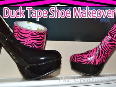 DuckTape® Shoe Makeover: Pink Zebra | The Creative Lady DIY