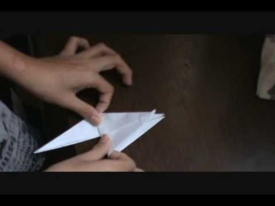Easy Origami Flapping Crane!