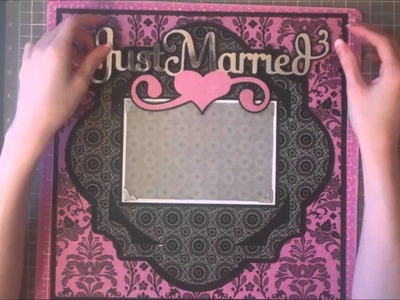 Faith Abigail Designs - Wedding Album Series: Just Married Single Scrapbook Layout Tutorial