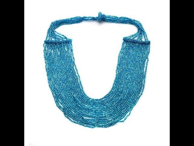 "Himalayan Gems Waterfall Potay Bead 221.2"" Necklace"