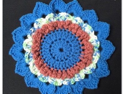 How to Crochet a Flower Pattern #59 │by ThePatterfamily