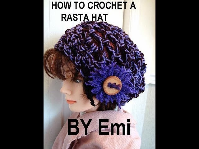 HOW TO CROCHET A RASTA HAT, snood, tam, beret.