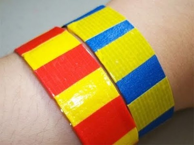 How to make a duct tape sports bracelet - EP
