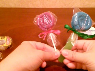 How to make a Washcloth Lollipop DIY (Tutorial) by shopbgd.com
