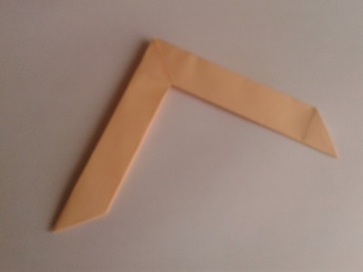How to make an origami boomerang #origami