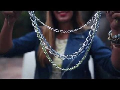 I SPY DIY VIDEO | Spike and Chain necklace