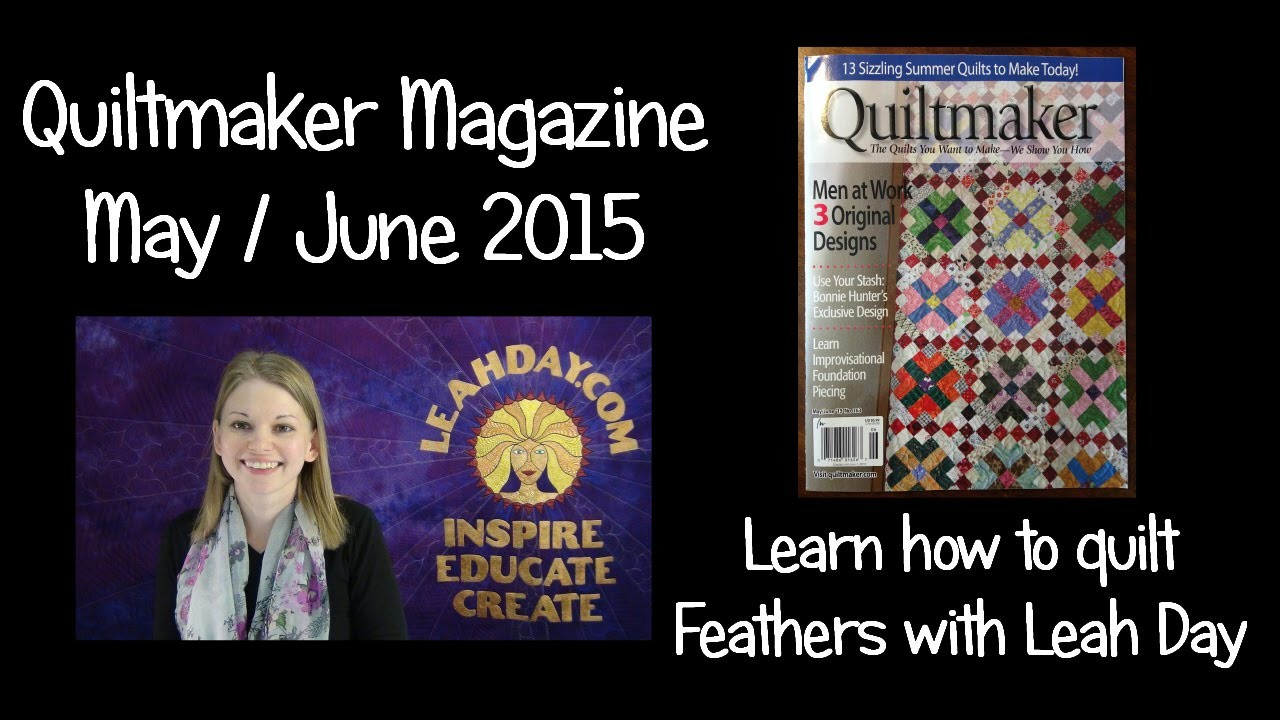 Learn two ways to free motion quilt feathers! - Quiltmaker Magazine 2015