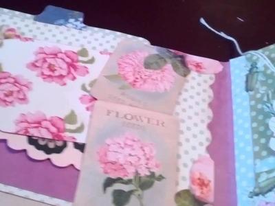 Nikki's third craft video - an envelope album using Tilda Garden Party paper