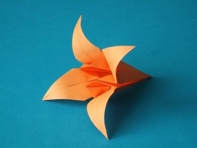 Origami Iris Flower Instructions ( Mother's Day ). (Full HD)