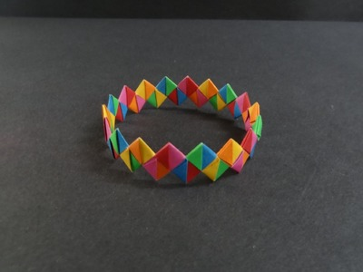 Origami Tutorial - How to fold a Paper Bracelet (Armband)