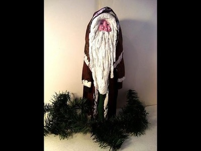 Papier mache FATHER CHRISTMAS SANTA FIGURE, HOW TO, DIY, MAKE IT