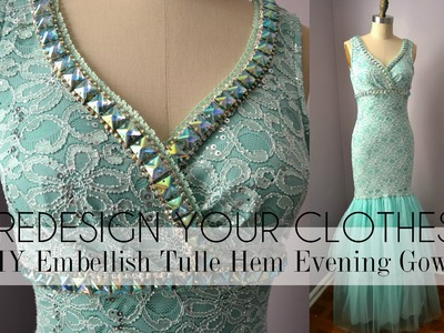 (RYC) 22:DIY Embellish Tulle Hem Evening Gown + Announcement