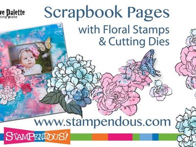Scrapbook Pages with Die Cut Flowers