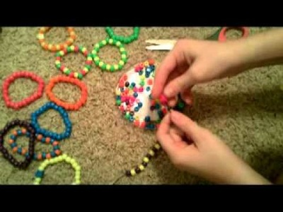 Simple Pony Bead Bracelet Tutorial