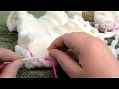 Stitch or Sew: Loom Knit Panels Together Invisible Seam for Blanket or scarf