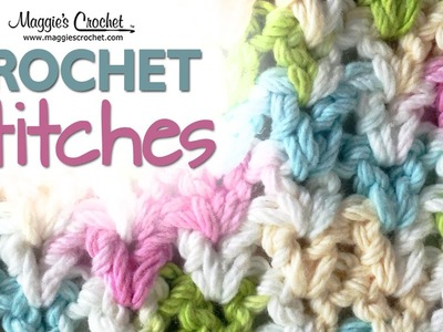 Stitch Repeat V-Stitch Free Crochet Pattern - Left Handed