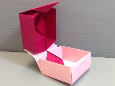 Valentine's Day Origami Hinge Box with Closure