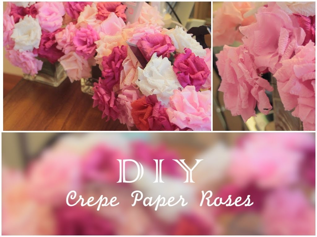 21st Birthday Series: HOW TO MAKE CREPE PAPER ROSES