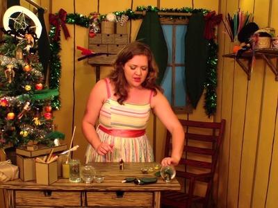 Beetle Bottoms Story Play- Make a Christmas Snow Globe- Kids Craft