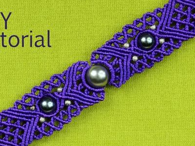 Big Eye Macrame Bracelet Tutorial