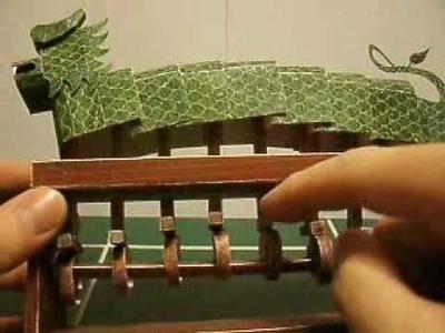 Chinese Jade Dragon Automata Papercraft