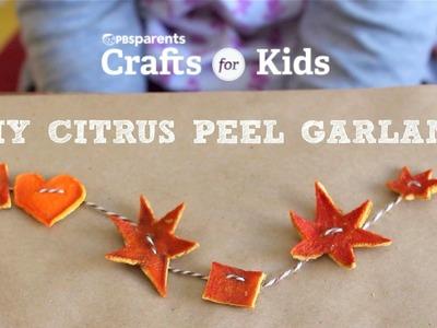 Citrus Peel Shapes Garland | Crafts for Kids | PBS Parents