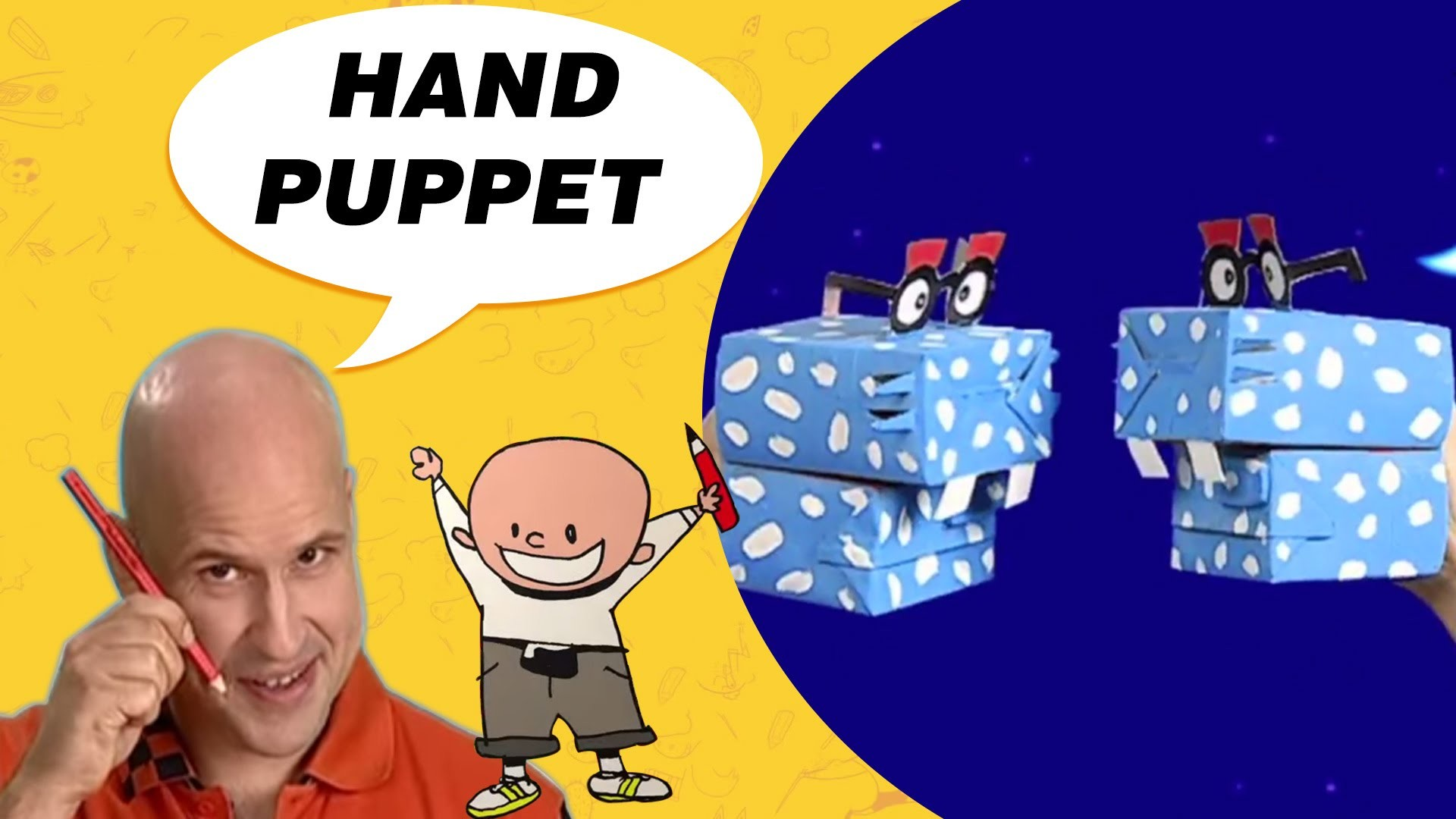 Crafts Ideas for Kids - A Hand Puppet | DIY on BoxYourSelf